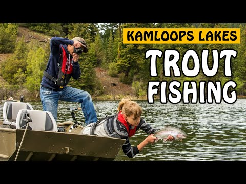 MULTI-SPECIES LAKE FISHING IN KAMLOOPS BC! Brook Trout And Rainbow Trout | Fishing With Rod