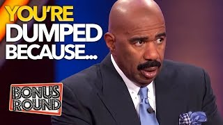 GETTING DUMPED! Brutal But Honest Answers On Family Feud USA!