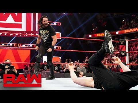 Seth Rollins Stomps Brock Lesnar Before WrestleMania: Raw, April 1, 2019