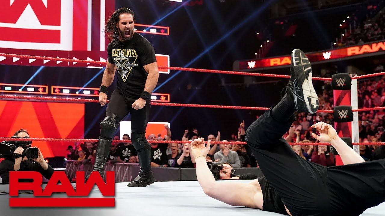 Download Seth Rollins Stomps Brock Lesnar before WrestleMania: Raw, April 1, 2019