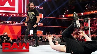 Seth Rollins Stomps Brock Lesnar before WrestleMania: Raw, April 1, 2019