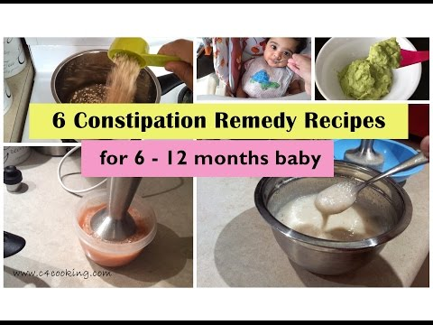 6 constipation remedy recipes ( for 6 -12 months baby ) | Home remedies for constipated baby