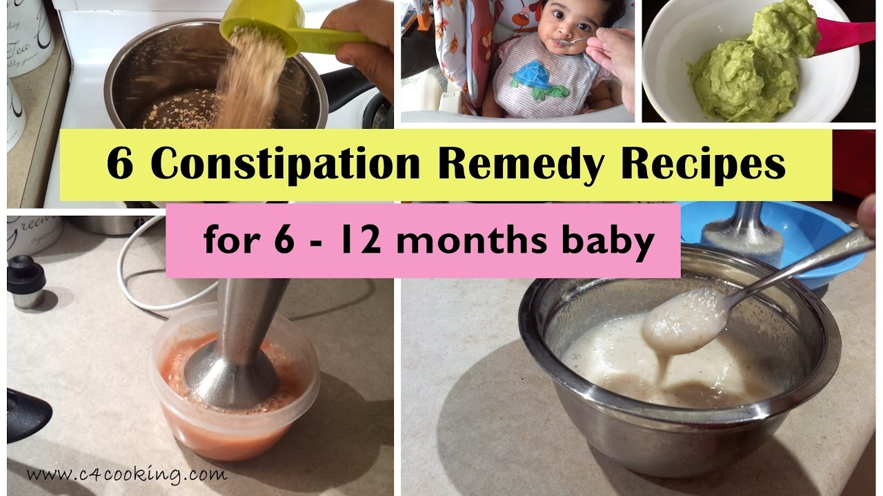 6 Constipation Remedy Recipes For 6 12 Months Baby