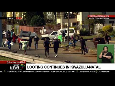 KZN Protests I Shops looted, burned in Pietermaritzburg