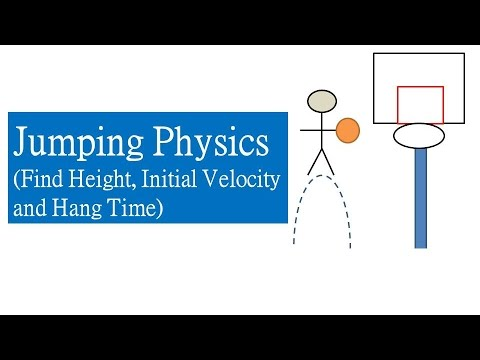 Vertical Jump Physics Finding Height Initial Velocity