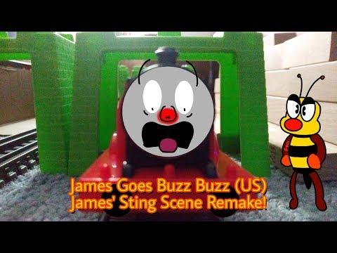 Thomas And Friends | James Goes Buzz Buzz Sting Scene Remake! (Trackmaster, TOMY, Plarail)