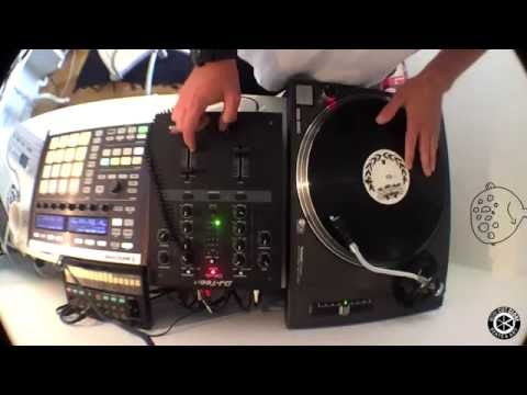 Making a sampled hip hop beat out of records with Maschine and Teenage engineering OP-1
