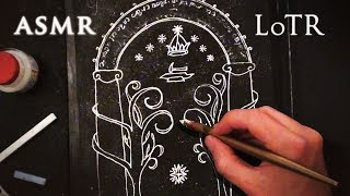 ASMR Lord of the Rings | Drawing Doors of Durin | Elvish Writing