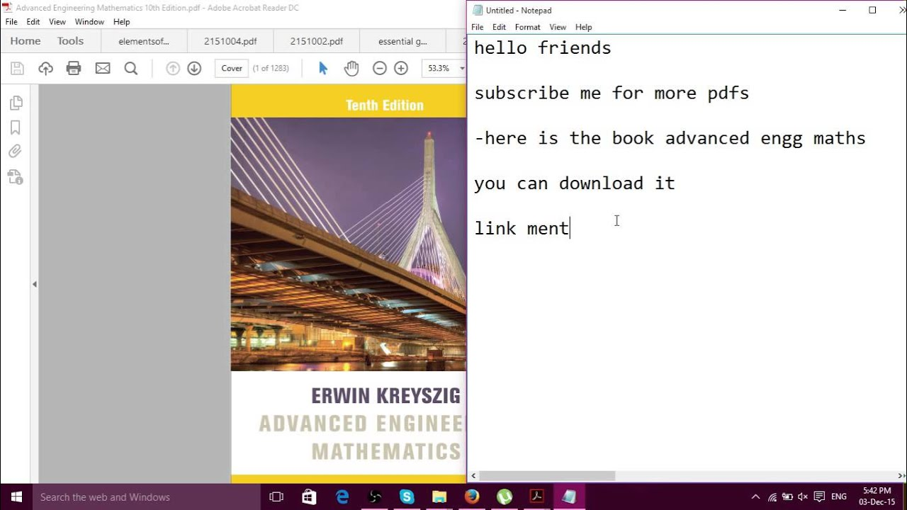 advanced engineering mathematics erwin kreyszig tenth edition pdf rh youtube com advanced engineering mathematics kreyszig 10th edition solution manual advanced engineering mathematics kreyszig 10th edition solution manual pdf download