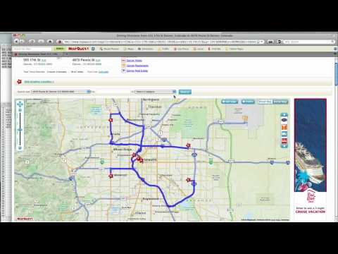 How To -- MapQuest Route Planner