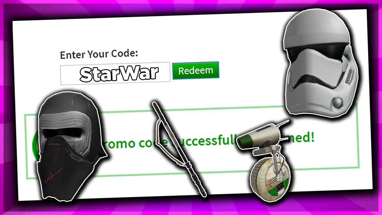 October All Working Promo Codes On Roblox 2019 Star War Roblox