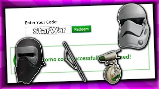 *OCTOBER* ALL WORKING PROMO CODES ON ROBLOX 2019| STAR WAR ROBLOX PROMO CODE (NOT EXPIRED)