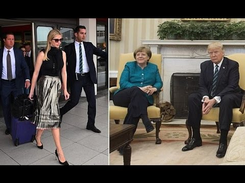 Thumbnail: Ivanka ist ein Berliner! First daughter lands in Germany after Merkel invited.