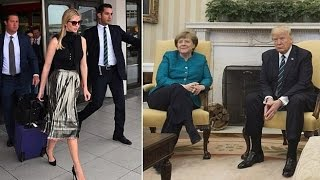 Ivanka ist ein Berliner! First daughter lands in Germany after Merkel invited.