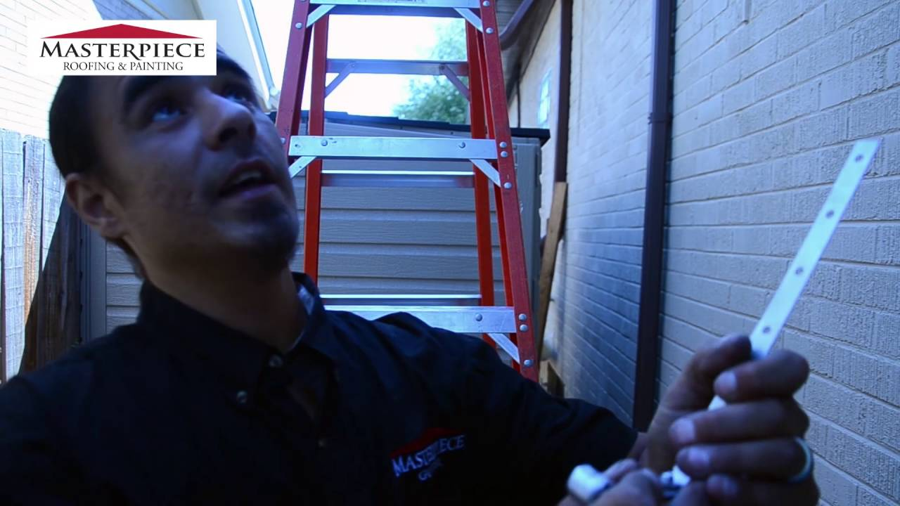Gutters Denver | How to install a rooftop hanger for gutters - Masterpiece  Roofing & Painting Denver