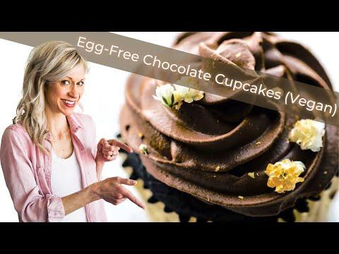 Gluten Free Chocolate Cupcakes (Vegan Option)
