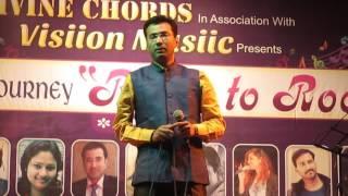 Santosh Deshpande performing Sun Ri sakhi