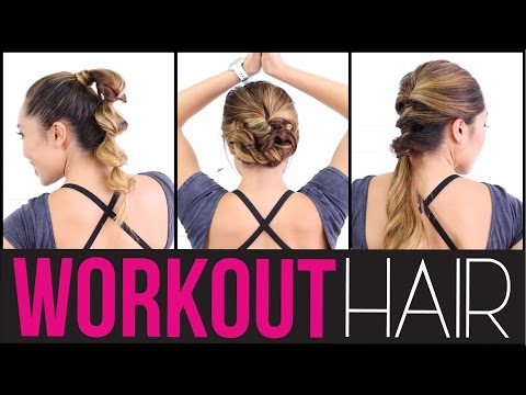 3 Quick & Easy Workout Hairstyles!