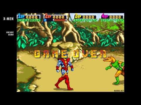 X-Men arcade game / opening intro attract mode auto demo / 1992