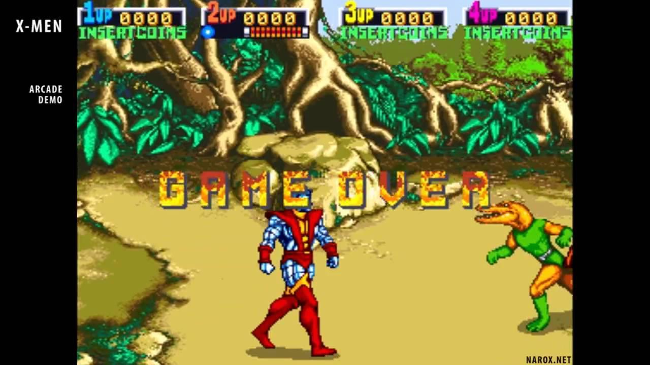 x men arcade game opening intro attract mode auto demo 1992