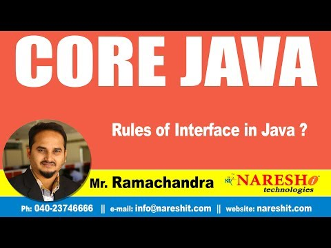core-java-tutorial-|-rules-of-interface-in-java-?-|-mr.ramachandra