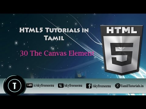 Html 5 Tutorial in Tamil 30 The Canvas Element