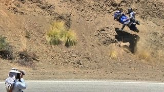 Motorcycle Crashes Into Hillside - 7/28/2012