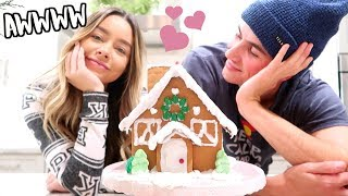 CUTEST GINGERBREAD HOUSE EVER! VLOGMAS DAY 16!