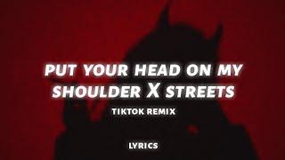 Red Silhouette challenge - put your head on my shoulder x streets (lyrics) (TikTok Remix)