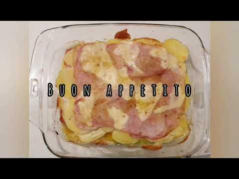 Cena veloce:  Millefoglie di patate con prosciutto e formaggio