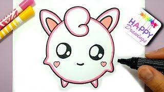 draw pokemon easy jigglypuff step drawings happy pikachu inspiration