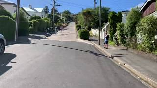 World's steepest street. Dunedin NZ.