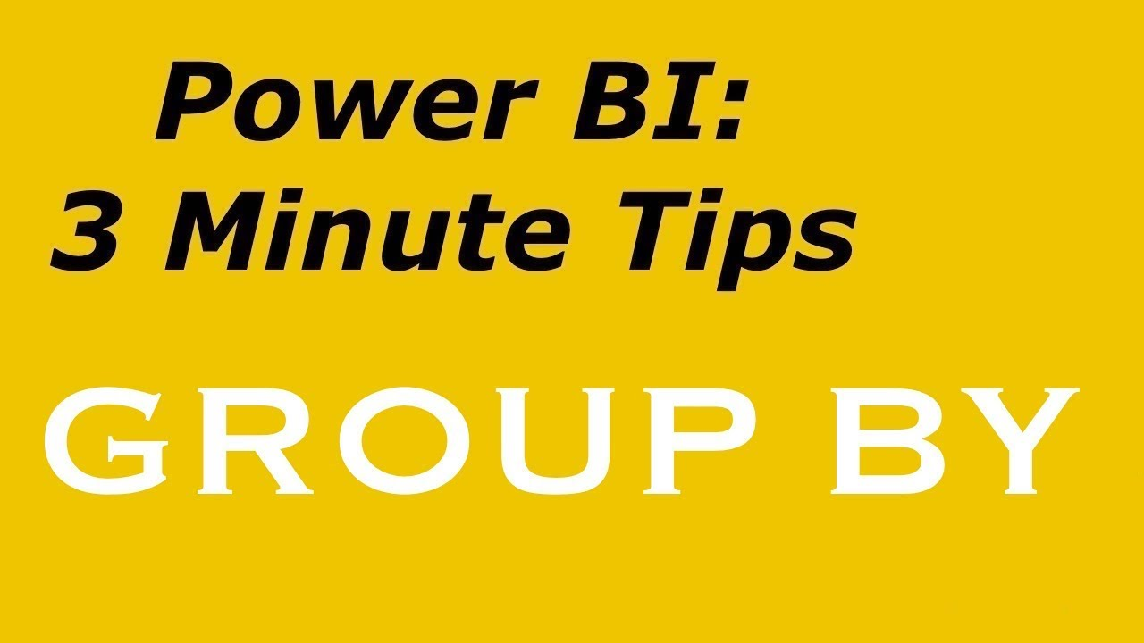 Power BI - GROUP BY without DAX