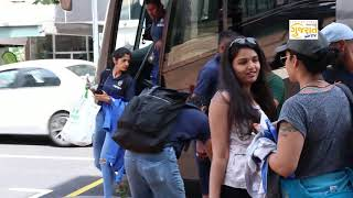 Team India arrived at Hamilton for the fourth One Day International
