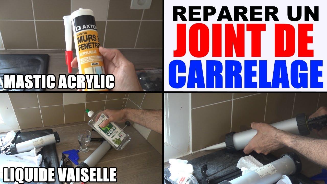 Faire Joint Faience Metro joint de carrelage mastic acrylique (réparation joint abîme ou faire)