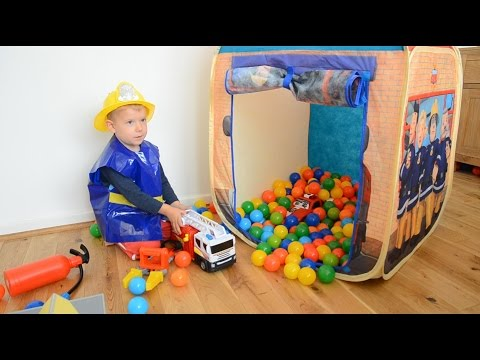 Fireman Sam ball pit compilation Fire rescue episodes Fire Engine Ball Pit Show
