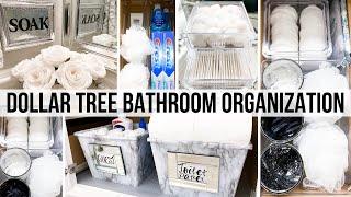DOLLAR TREE DIY Bathroom Decor + Organization | Small Bathroom Organization Ideas 🌟