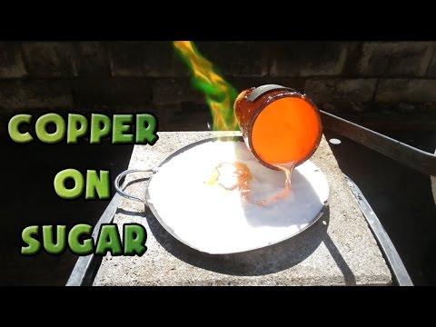 Molten Copper vs Sugar Part 1