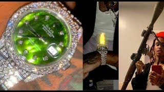 Lil Gnar Who Got Arrested Posting A Rocket Launcher Show His 50,000 Hologram Rolex..DA PRODUCT DVD