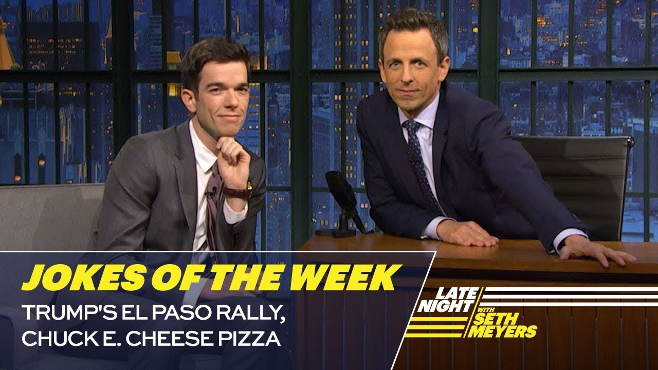 Seth's Favorite Jokes of the Week: Trump's El Paso Rally, Chuck E. Cheese Pizza