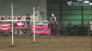 Courtney Pilkey and Tia - Fastest Time of the Weekend in Pole Bending - June 23, 2012