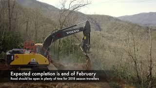 Hwy 28 Robbinsville, NC Rockslide Update - Week 1
