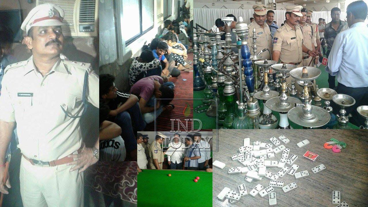 Hyderabad Police raid hookah parlours