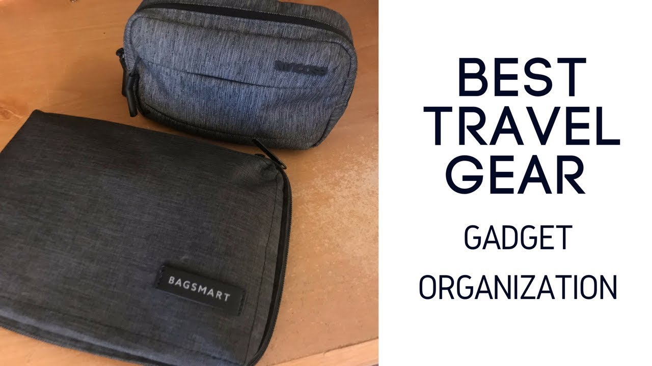 Best Travel Gear Bagsmart Electronics Organizer And Incase Accessory Pouch Review Youtube