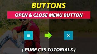 Menu Open & Close Button Using Pure CSS By VRPawar