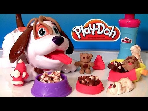 Play Doh Puppies Playset With Kibble Kranker | Play Dough Cute Puppy Bacon & Dog Food Funtoys