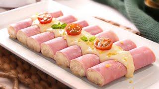 Canelones Fríos de Jamón Cocido muy fáciles y deliciosos