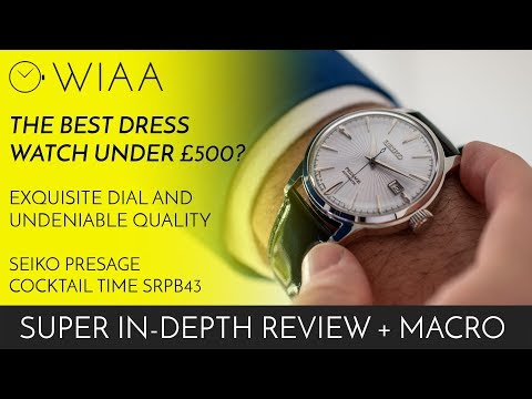 The BEST Dress Watch Under $500?! Seiko Presage Cocktail Time SRPB43 Watch Review