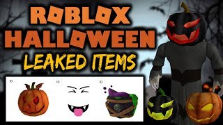 Roblox Halloween 2018! Leaked Hats/Faces/Gear!
