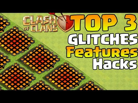 Clash of Clans TOP 3 HACKS GLITCHES AND HIDDEN FEATURES | BROKEN Town Hall Santa Strike